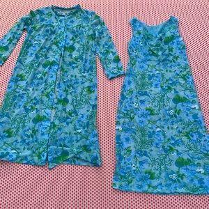 Vintage 50s nightie nightgown and cover up set